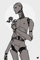 androids and roses by harteus