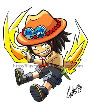 .: One Piece : Portgas D Ace :. by iluvcats111