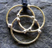 Brass Protection Necklace by MoonLitCreations