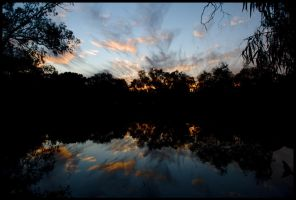 Murray River sunset 1 by wildplaces