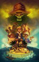 Curse you Guybrush Threepwood by neomonki
