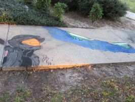 Halo Chalk day by AxelHonoo