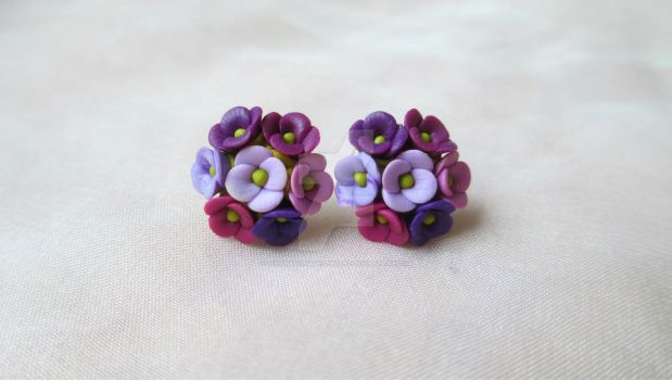Polymer clay flowers by LenaHandmadeJewelry
