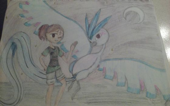 Me and Articuno by inktheartistdude
