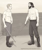 Cullen and Blackwall sparring by symmetria-f