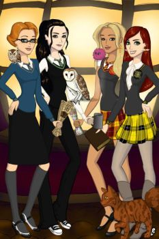 Leading Ladies Hogwarts Style. by Lunakinesis