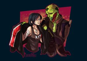 COMMISSION - Mass Effect: Let's go home by mortinfamiART
