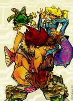cannon busters trio by eldeivi