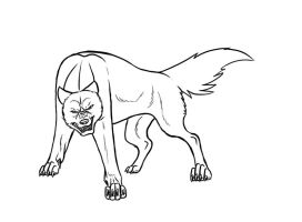 ginga dog - lineart by wolfhound56200