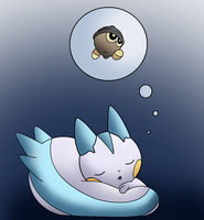 Pachirisu dreams by Thunderwest