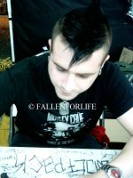Johnny Christ Signing by FallenForLife