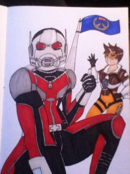 Ant-Man helps Overwatch by Niininaac36
