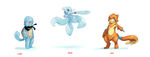 PMD Water Rouge Lineup by Pomeli-chan