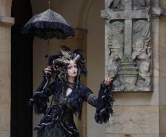 Stock - Black and gold Vampire Queen Faun Demon 36 by S-T-A-R-gazer