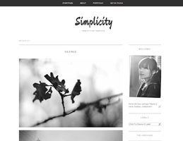 Free Blogger template Simplicity by TasnimEz