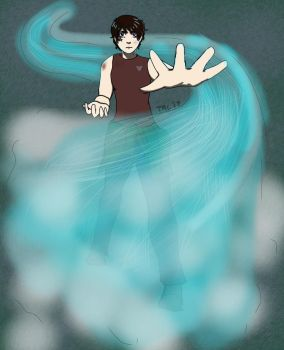 My frends oc: Andy the child of Poseidon by Rainintheearlymornin