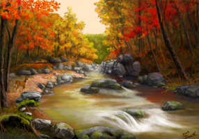 Autumn river by abyss1956