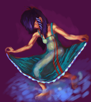 Color Test 01, Girl With Water by talentlessfiend