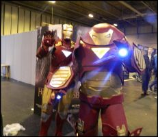 Ironman and Hulkbuster by MJ-Cosplay
