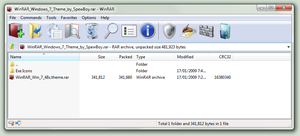 WinRAR Windows 7 Theme 48x by muckSponge