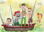 FISHING DAY WITH THE SHORTMAN by Carylyn