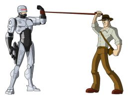 Quick Art - RoboCop vs Indy by KrisSmithDW