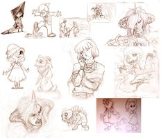 Various sketch dump by pupukachoo