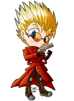 Vash The Stampede Chibi by StaticBlu
