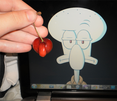 Squidward Cherry by Manicfool