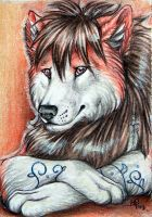 ACEO for MoonsongWolf by wolf-minori