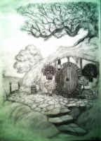 Bag End, the Shire by SmeaGolllum