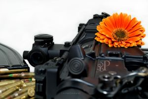 AR-15 with big flower by pringle753