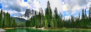 Emerald Lake 5 Picture Panoram by Joe-Lynn-Design