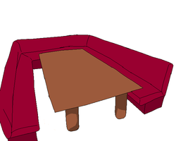Vocaloid couch and table base by ChibiReaperArts