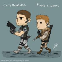 Chris Redfield and Piers Nivans by redfield37