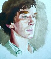 BBC Sherlock comic: Watercolour 2 by Graphitekind