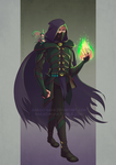 [Commission][DnD] Warlock and his fey by Margo-sama