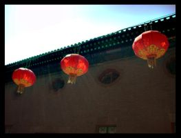 Lanterns and God Rays by ShanghaiBoo