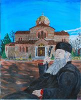 Portrait of Old Priest Misplaced in Time by CodyVBurkett