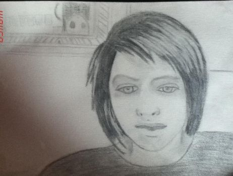 me as a drawing by TheLetDownKid