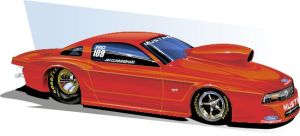 Mustang Drag Car NHRA by Bmart333