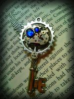 Indigo Mechanized Fantasy Key by ArtByStarlaMoore