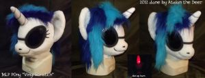 MLP Vinyl Scratch Fursuit Head by AtalontheDeer