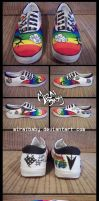 Rainbow Shoes by miraibaby