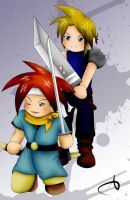 CT-FF7 - Chrono and Cloud by SorceressofMalice