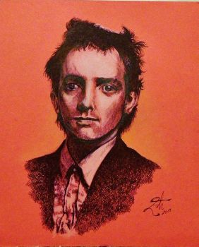 Rik Mayall by Stael