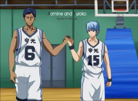 Kuroko and Aomine [KnB] by Timagirl