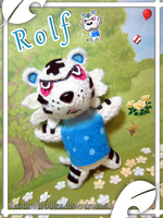Commission- Rolf from Animal Crossing Fanplush by Rainbowbubbles