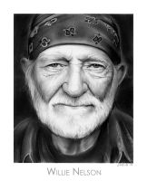 Willie Nelson by gregchapin