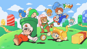 BSC Mario 3D World Thumbnail by Air-City